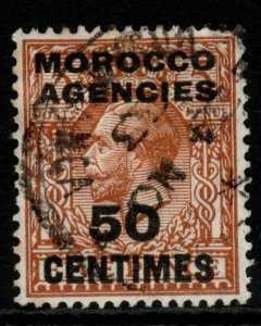 MOROCCO AGENCIES SG197 1923 50c on 5d YELLOW-BROWN FINE USED