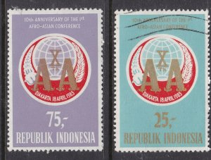 INDONESIA ^^^^^10  th  AFRO/ASIA  conference used set  $$@ dccc413indo