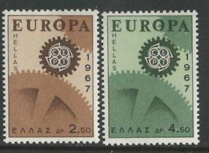 Greece # 891-92  Europa Common Design  1967 (2)  Mint NH
