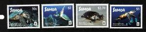 Samoa-Sc#1270-3-Unused NH set-WWF-Hawksbill Turtles-Reptiles-2016-