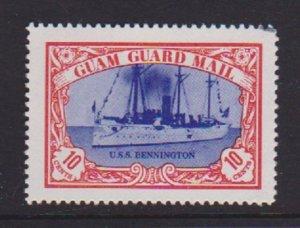 GUAM GUARD MAIL CINDERELLA STAMP(USS BENNINGTON) . LOT#134