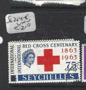SEYCHELLES  (P3005B)  QEII   RED CROSS  SG 214-5   VFU