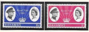 Bahamas #228-229 Royal Visit 1966  (MNH) CV$3.05