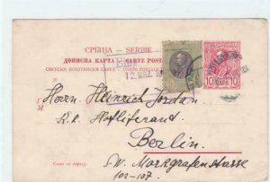 serbia early stamps card ref r15968