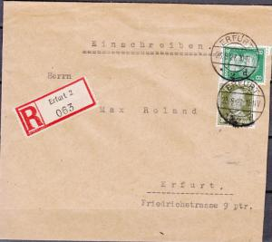 Germany - 23.8.1927 Famous German on registered cover to Erfurt (5168)