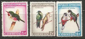 Dominican Republic 602-04 MOG BIRDS R10-109