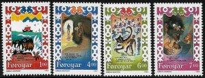 Faroe Is. 270-3 MNH Complete Set - Ballad Scenes