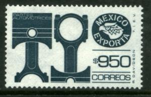 MEXICO Exporta 1587a $950P Pistons Unwmk Thin Paper 3 MNH