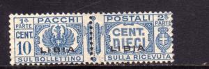 LIBIA 1927 - 1937 LIBIA PACCHI POSTALI PARCEL POST CENT. 10c MNH