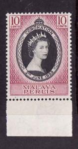 Malaya Perlis-Sc#28-unused NH set-QEII-Omnibus-Coronation-1953-