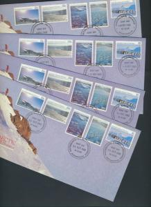 Australian Antarctic Territory 1985  - 4 covers Antarctic Scenes series II