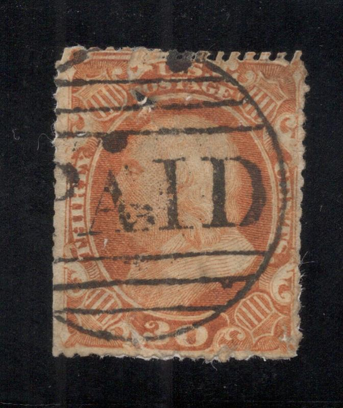 US#38 Orange - Paid Cancel - Nice Looking Space-Filler - Cat:$425.00