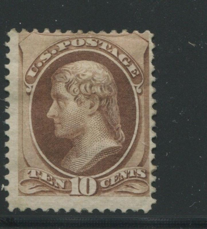 1870 US Stamp #150 10c Mint Part Gum Average Perf 12. Catalogue Value $2000