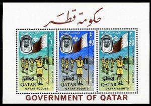 Qatar Stamps # 60a MNH Rare Boy Scout S/S