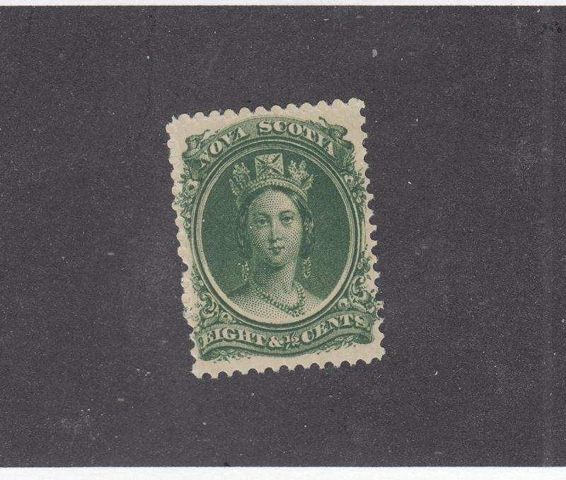 NOVA SCOTIA  # 11 VF-MLH 81/2cts  Q/ VICTORIA GREEN  CAT VALUE $20