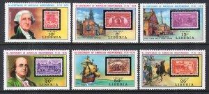 Liberia 703-708 Stamp on Stamp MNH VF