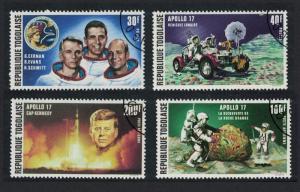 Togo 'Apollo 17' Moon Flight John Kennedy 4v SG#931-934