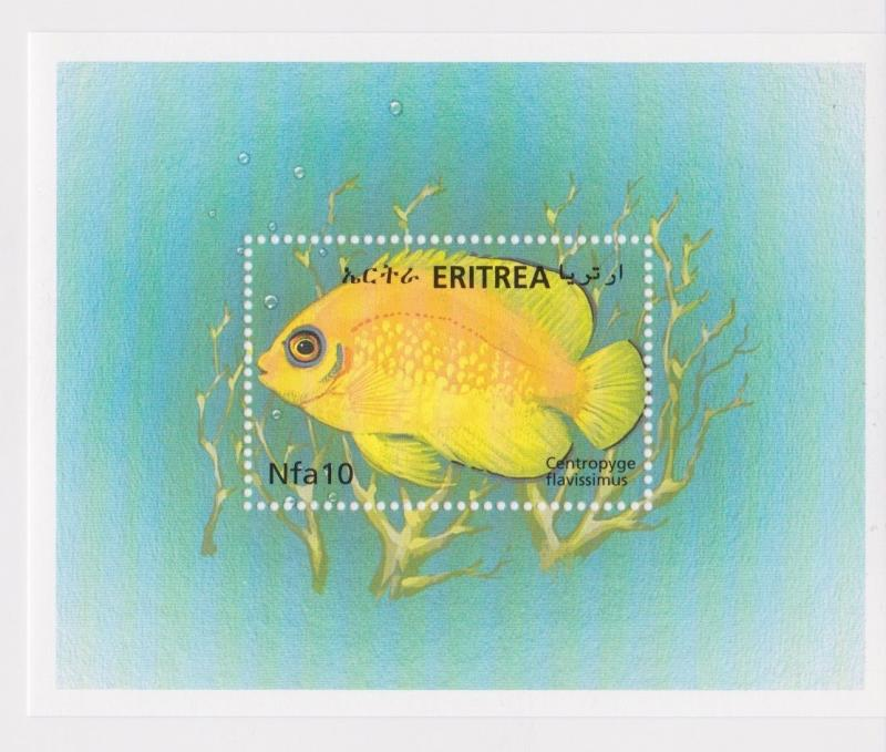 Eritrea - Fish & Coral Reefs of the Red Sea, 2000 - Sc 336 S/S MNH