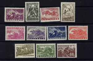 Bulgaria 512-22 MNH 1946 WWII