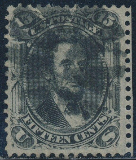 #77 VF USED WITH V WEDGE FANCY CANCEL CV $180+ BR5537