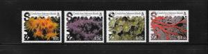 CORALS - SOLOMON ISLANDS #576-579  LH