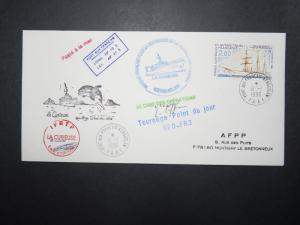 France TAAF 1996 Antarctic Cruise Ship KERGUELEN Cover / Cpt Signed - Z11131