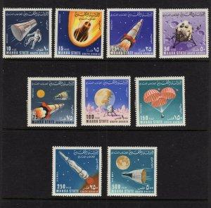 Aden (Mahra) #58-66  (1967 Space Research) CV €7.50 ($10 cdn)