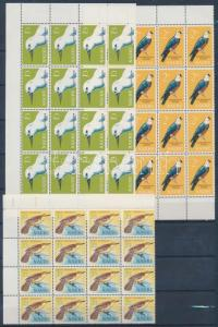 Nauru stamp Birds 3 corner block of 16 MNH 1965 Mi 52-54 WS172085