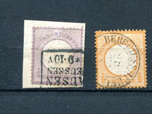 Germany #1 and #16  Used VF- Lakeshore Philatelics