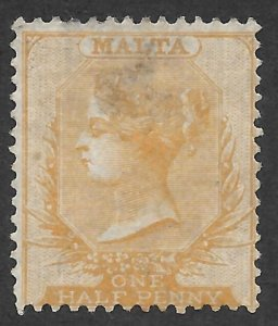 Doyle's_Stamps: MNG 1875 Malta Queen Victoria One-Half Penny, Scott #3* ng
