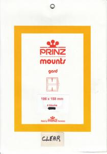 PRINZ CLEAR MOUNTS 196X158 (4) RETAIL PRICE $10.50