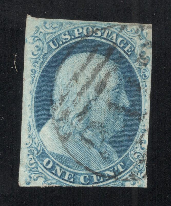 US#7 Blue - Type II - Black Paid Cancel