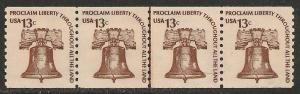 United States #1595 VF MNH - 1975 13c Liberty Bell Line Pair