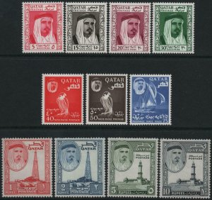 QATAR-1961 Set to 10r Sg 27-37 MOUNTED MINT V40432
