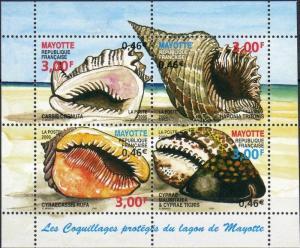 Mayotte stamp Sea snails block MNH 2000 Mi 4 WS220142