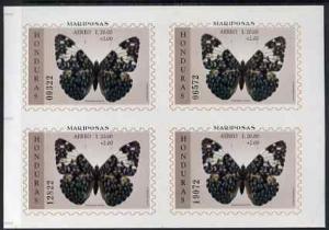 Honduras 1997 Butterflies m/sheet 20L+2L IMPERF block of ...