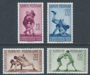Turkey #986-9 NH European Wrestling Championships