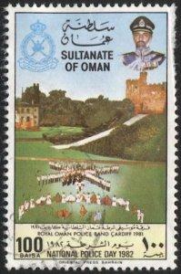 OMAN 1982  100b Sc 224 Used  Police Day, VF