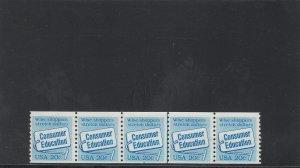 UNITED STATES 2005 MNH PLATE STRIP 5 PLATE 4 2019 SCOTT CATALOGUE VALUE $40.00