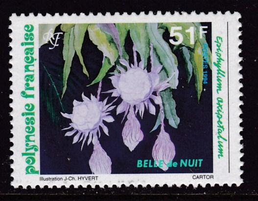 French Polynesia 1994 Flowers  51f Belle de Nuit   VF/NH
