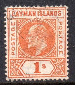 Cayman Islands 1905 EDVII 1/- wmk MCCA SG 12 used