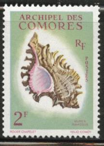 Comoro Islands Scott 50  MH* shell stamp