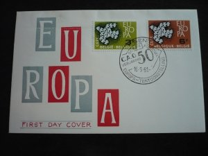 Europa 1961 - Belgium - Set - First Day Cancellation