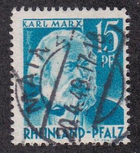 Germany - Rhine Palantine # 6N21, Karl Marx, Used, 1/3 Cat.