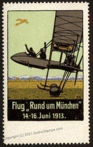 Germany 1913 Munich Round Flight Flug Rund Muenchen Luftpost Flight MNH  G102784