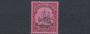 MARSHALL  ISLANDS 1901   S G  G19   80PF  BLACK &  CARMINE       MNH