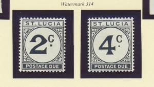 St. Lucia Scott #J11 To J12, Mint Never Hinged MNH, Postage Due Issue From 19...