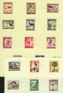 South West Africa 1954/61 range of pictorial issues to include '54 1d to  Stamps