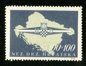 Croatia Stamps # B75 VF OG NH Catalog Value $175.00