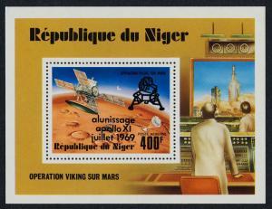 Niger C297 MNH Space, Viking Orbitor, Mars Landing, Apollo XI o/p